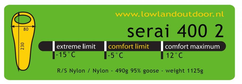 Lowland Outdoor Lowland - Serai 400 2 - 1125gr -5°C.