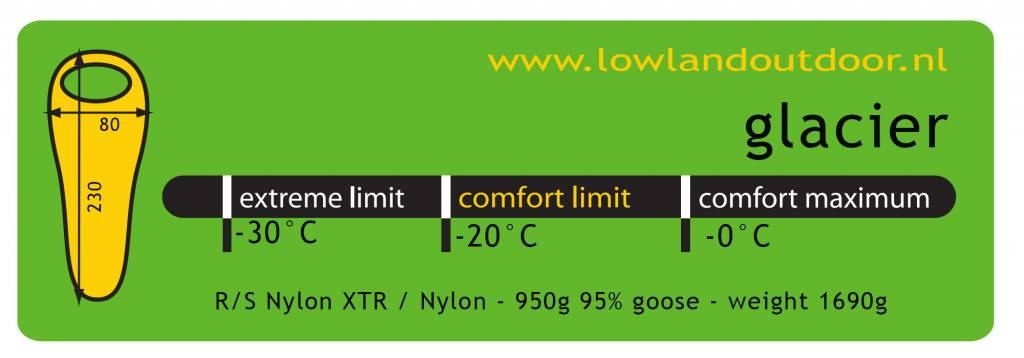 Lowland Outdoor Lowland  - Glacier Lime  -  Expeditiemodel Slaapzak - 1690gr - min 20°C