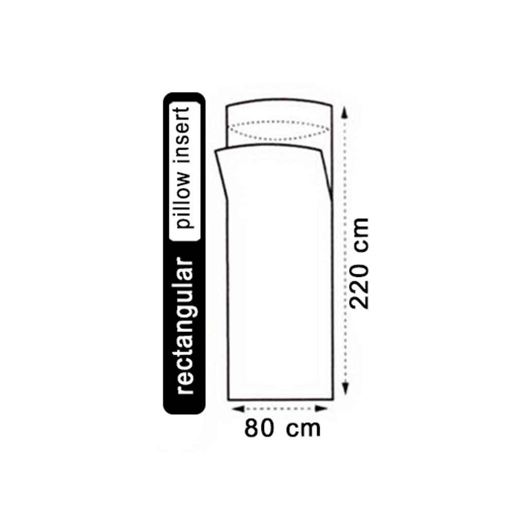 Lowland Outdoor LOWLAND OUTDOOR® Lakenzak - 100% Zijde - recht model - 220x80 cm - 100gr