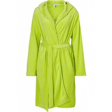 Pastunette lime green velvet dressing gown