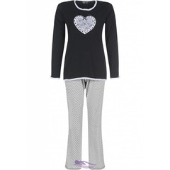 Pastunette Deluxe ladies pyjama with 'Heart & Lace'