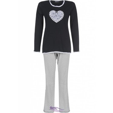 Pastunette Deluxe ladies pyjama with dots & lace