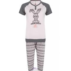 "Rebelle Girls pyjama met korte mouwen ""tassle tail bunny"""