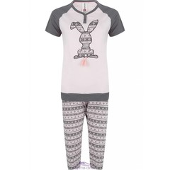 "Rebelle Girls short sleeve pyjama ""tassle tail bunny"""