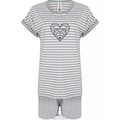 "Rebelle Girls ""Amazing Hearts"" shortama met strepen en hartjes"