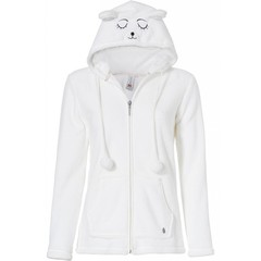 Rebelle 'sleepy bear' fleece lounge jacket with cute hood
