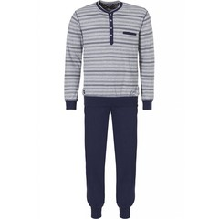 Pastunette for Men men's long sleeved pyjama 'trendy mixed stripes & diamonds'