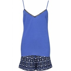 Cyberjammies Josie navy blue cami short set