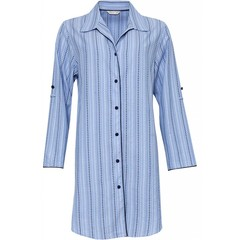Cyberjammies Josie spotty striped cotton nightshirt