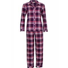 Cyberjammies Anna burgundy-pink checked pyjama set