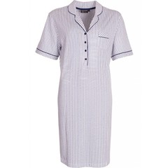 "Pastunette Deluxe cotton nightdress with buttons ""Just Simply Stripes"""