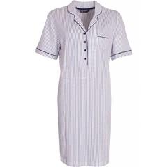 "Pastunette Deluxe katoenen nachthemd met knoopjes ""Just Simply Stripes"""