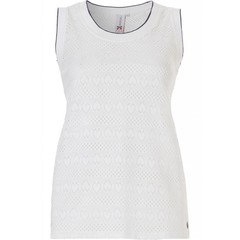 Rebelle off-white sleeveless top 'heart to hearts'