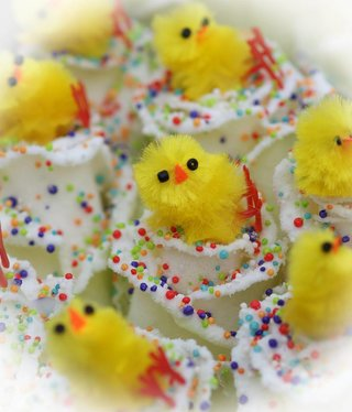 Easter white yellow