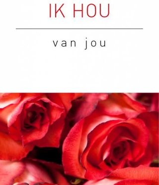 Rozen.nl kaartje Ik hou van jou