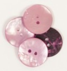 Drops Round Button (Pink) 20mm / 608