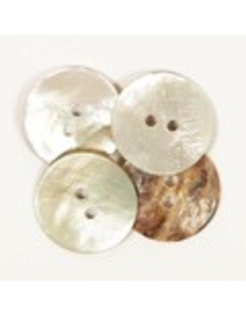 Drops Knoop Gebogen (wit) 20mm / 522