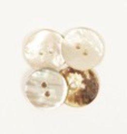 Drops Knoop Gebogen (wit) 15mm / 521