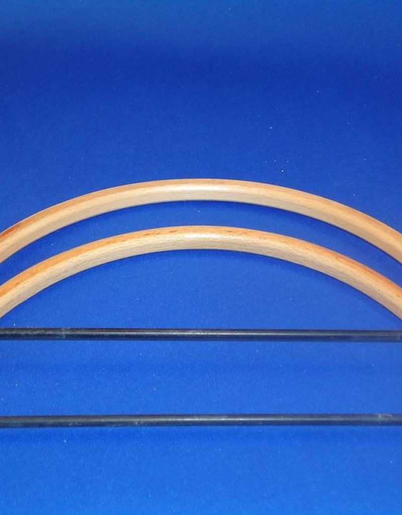 Bag holder half round beech 20.5 cm