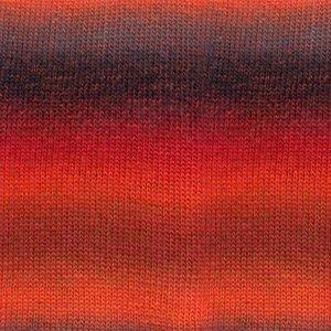 Drops Delight 13 Rood/oranje/grijs mix