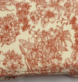 Breitas - Creme met rode bloemdesign