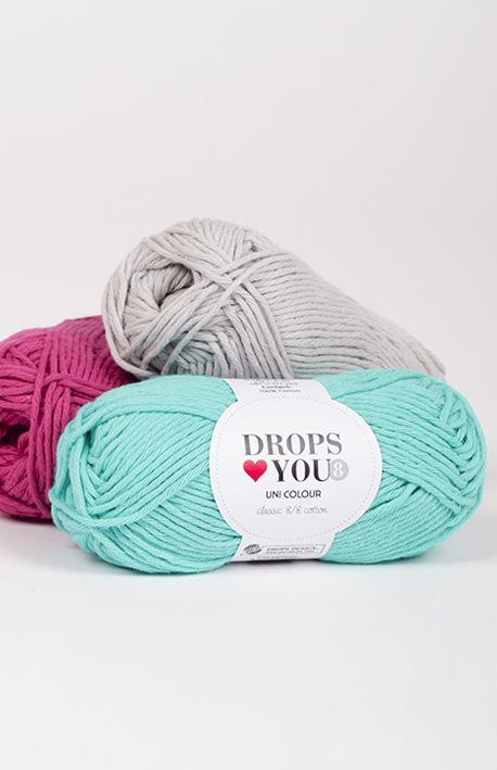 ♥ You 8 Wolle & Garn - 100% Baumwolle - 5 mm