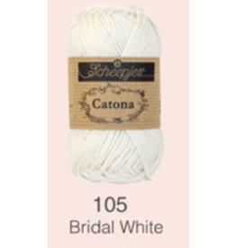 Scheepjes Catona 10 gram  - 105  Bridal White