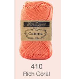 Scheepjes Catona 10 gram   - 410 Rich Coral