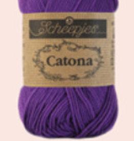 Scheepjes Catona 10 Gramm - 521 Deep Violet - 10 Bälle für