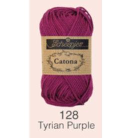 Scheepjes Catona 10 gram    -  128 Tyrian Purple
