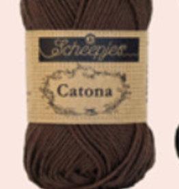 Scheepjes Catona 10 gram  - 162 Black Coffee  - 10 bollen voor