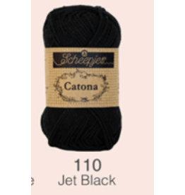 Scheepjes Catona 10 Gram   - 110 Jet Black