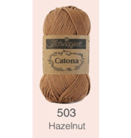 Scheepjes Catona 10 gram - 503 Hazelnut
