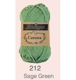 Scheepjes Catona 10 Gram   - 212 Sage Green