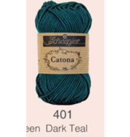 Scheepjes Catona 10 gram   - 401 Dark Teel