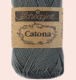 Scheepjes Catona 10 Gramm - 501 Anthrazit - 10 Zwiebeln vorher