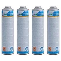 4 x universele gasfles voor onkruidbrander / gasbrander