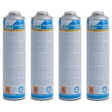 CFH 4x Universal gas cylinders, threaded connection, 600 ml
