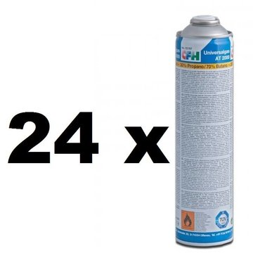 CFH 24x Universal gas cylinders, threaded connection, 600 ml