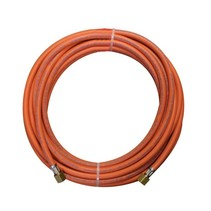 "Rubber connection hose, 10 meters, 3/8"" threaded couplings"