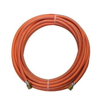 """CFH Rubber connection hose, 5 meters, 3/8"""" threaded couplings"""