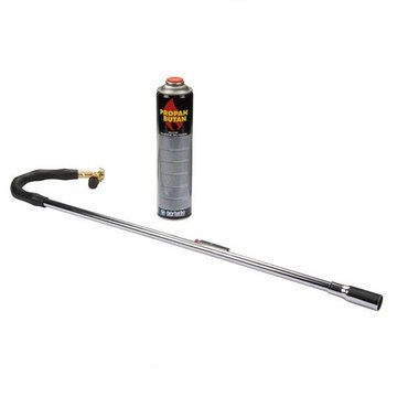 Oxyturbo Bioflame Gas weed burner with Piezo ignition and 1x 600 ml gas cylinder