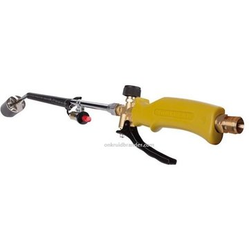 Toolland Gas weed burner with Piezo ignition, gas hose and pressure regulator