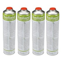 4x Universal gas cylinders, 600 ml for gas burners