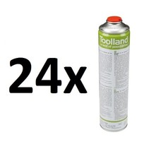 24x Universal gas cylinders, 600 ml for gas burners