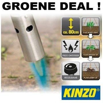 Kinzo Gas weed burner with Piezo ignition, 800 - 1200°C