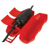 Perel Red protective sleeve for extension cord - Cable socket for outside IP44