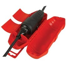 Red protective sleeve for extension cord - Cable socket for outside IP44