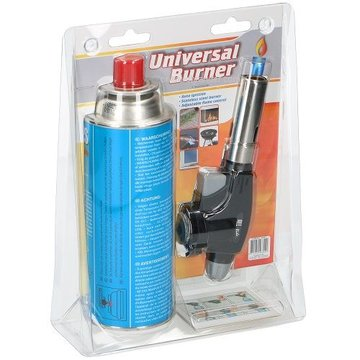All Ride universal creme brulee burner with gas bottle giftset