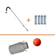 Chalumeau bûleur à gaz EUROM + 4 cartouches de gaz